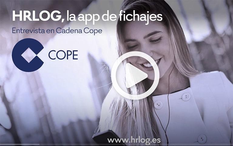 HRLOG La app de fichajes. Entrevista en Cadena Cope 1